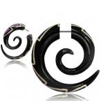pink agate inlayed horn spiral