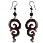 tribal wood earring