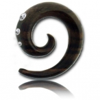 sono wood spiral with crystal