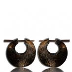 raw hide horn earring