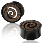 Black Arang wood / horn spiral plug