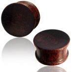 Dark tamarind wood plug