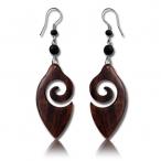 narra wood earring