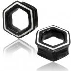 Bone inlayed horn hexagon tunnel
