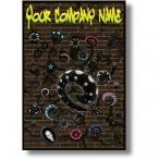 Graffiti Horn piercing Poster