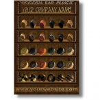 Wooden ear plug Poster
