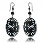 Carved shell earring