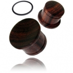 singel flair dark tamarind wood plug