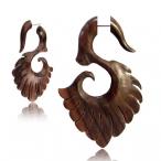 Wooden tribal fan piercing hook