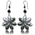 Flower shell earring