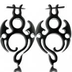 Horn tribal earring