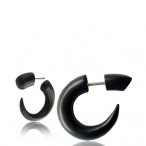 Narra wood colored black, fake piercing