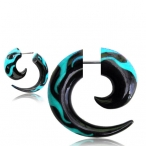 Flame turquoise spiral