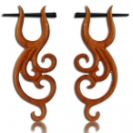 Sawo wood flower earring