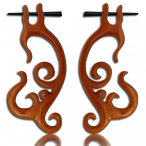 Sawo wood earring