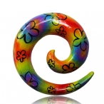 Hand painted wood spirals