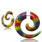Painted wood spirals , fake
