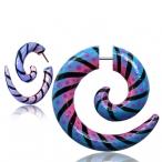 Painted wood spirals
