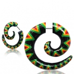 Painted Wood spirals with 316L steel pin