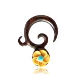 Sono wood with carved coco shell flower