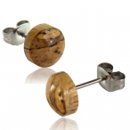 Tamarind wood stud earring with 316L steel post