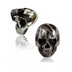 Stainless steel ring , skull