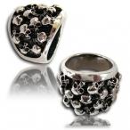 Stainless steel ring , Multi skull finger ring