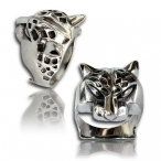 Stainless steel ring , panther ring.