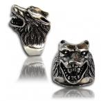 Stainless steel ring , wolf finger ring