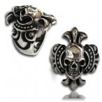 Stainless steel ring , skull finger ring