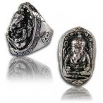 Stainless steel ring , Ganesh finger ring
