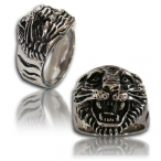 Stainless steel ring , lion ring