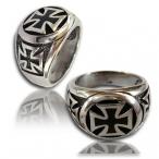 Stainless steel ring , iron cross ring