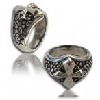 Stainless steel ring , cross