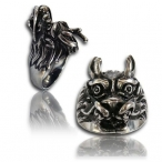 Stainless steel ring, wolf ring