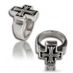 Stainless steel ring , saint\