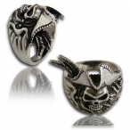 Stainless steel ring, pirate ring