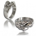 Stainless steel ring , claw ring