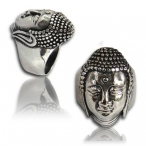 Stainless steel ring , budha ring