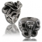 Stainless steel ring, cobra ring