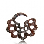 Narra wood wood expander , mayan style flower of life.