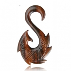 Narra wood, maori fish hook expander