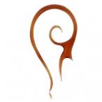 red horn ear tattoo