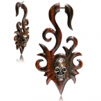 Narra wood fake piercing with steel inlay.