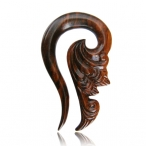 Ornate Narra wood piercing.