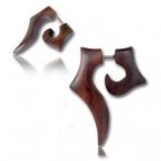 wooden fake piercing