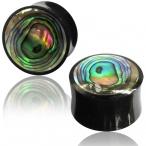 abalone inlayed horn plug