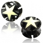 Pentagon Star  ear Plug / Tunnel
