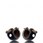 bady coco nut pin earring (straight cut)