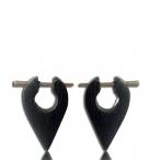 pin earring Narra wood colored black